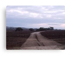 241/365 the curious allure of a road from nowhere to nowhere Canvas Print