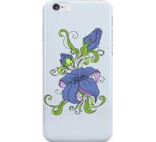 Blue Floral iPhone Case/Skin