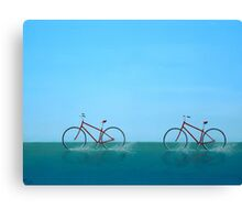 Crossing the Sound Canvas Print