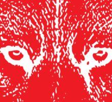Broken World _ Wolf Red Sticker