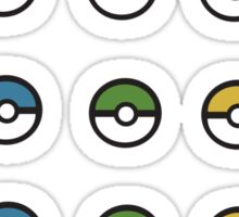 Mini Pokeballs Sticker Sheet. Sticker