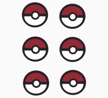 6 Pokeball Stickers. by Anon Na