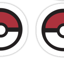 6 Pokeball Stickers. Sticker