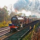 "Stanier pacific ""Princess Elizabeth"" at speed by John Morris"