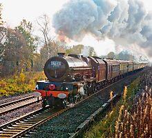 "Stanier pacific ""Princess Elizabeth"" at speed by John Morris"