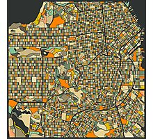SAN FRANCISCO MAP Photographic Print