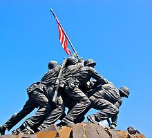 Iwo Jima Memorial by Jeannie  Mazur