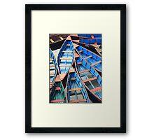 Pokhars Boats Framed Print