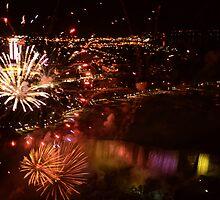 Fireworks at niagara falls by cdoering