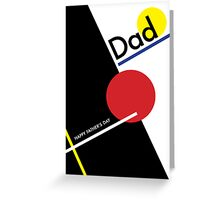 Geometric Happy Father's Day Greeting Card