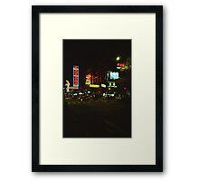 Neon Lights - Lomo Framed Print