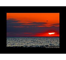 Red Sunset - Stony Brook, New York Photographic Print