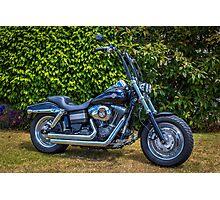 Fatbob Harley Photographic Print