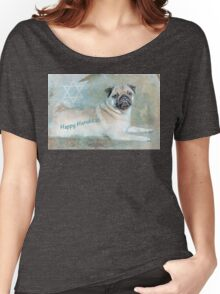 """Pug """"Happy Hanukkah"""" ~ Greeting Cards Plus More! Women's Relaxed Fit T-Shirt"""