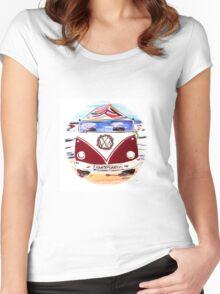 SANDY SALTY SANTA  Women's Fitted Scoop T-Shirt
