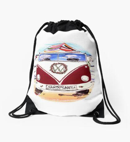 SANDY SALTY SANTA  Drawstring Bag