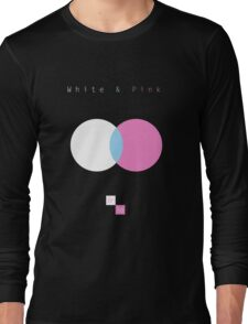 White & Pink Long Sleeve T-Shirt