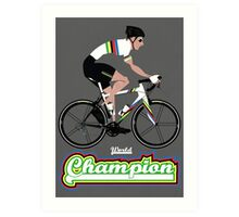 World Champion Cycling Art Print