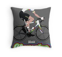 World Champion Cycling Throw Pillow
