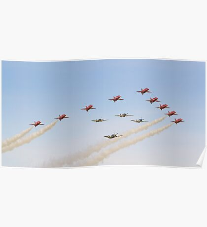 The Red Arrows with 'Eagle Squadron' Poster