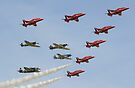 The Red Arrows with 'Eagle Squadron' by Nigel Bangert