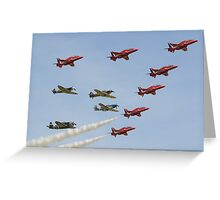 The Red Arrows with 'Eagle Squadron' Greeting Card
