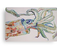 The Squid - Acrylic Painting Canvas Print