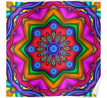 Cool Colors Kaleidoscope artwork Poster