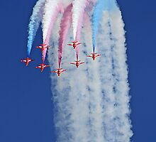 Reaching For The Sky - The Red Arrows - Duxford 26.05.2013  by Colin  Williams Photography