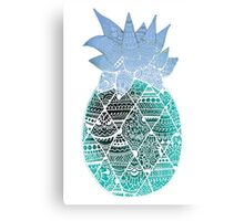 Pineapple: White/Blue Canvas Print