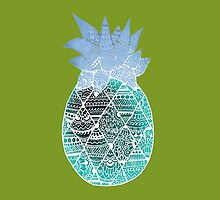 Pineapple: White/Blue by MRLdesigns