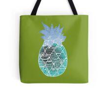 Pineapple: White/Blue Tote Bag