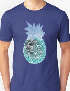 Pineapple: White/Blue T-Shirt