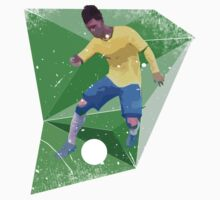 Brazil Football World Cup 2014 Skills Tee by Tom Langston
