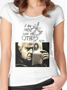 Ralph Steadman - I'm Not Like the Others Women's Fitted Scoop T-Shirt