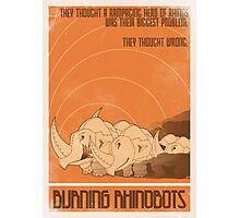 Burning Rhinobots Photographic Print