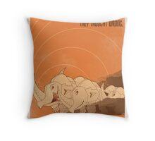 Burning Rhinobots Throw Pillow