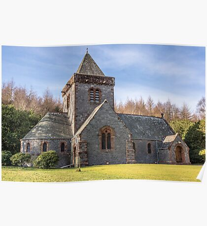 Building, Church, Southwick parish church, Dumfries & Galloway Poster