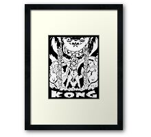 Kong loves cheesecake B&W Framed Print