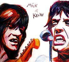 Mick and keith by Jack Lowerson