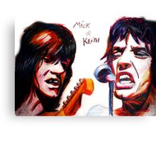 Mick and keith Canvas Print