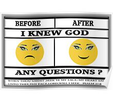 ☝ ☞BEFORE AND AFTER WITH BIBLICAL TEXT☝ ☞ Poster