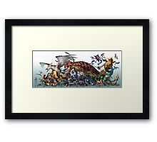 Realistic Pokemon-Season 1 Framed Print