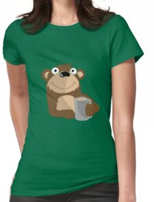Beer Bear Womens Fitted T-Shirt