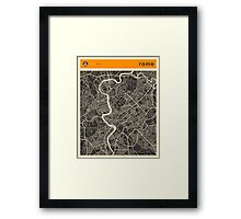 ROME MAP Framed Print