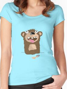 Drunk Bear Women's Fitted Scoop T-Shirt