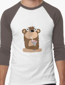 Cocktail Bear Men's Baseball ¾ T-Shirt