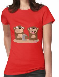 Twin Bears Womens Fitted T-Shirt