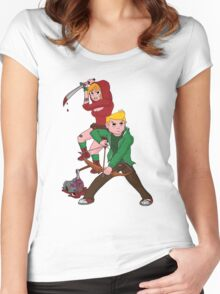 Red Riding Hood and Robin Hood: The Zombie Killing Hoods Women's Fitted Scoop T-Shirt