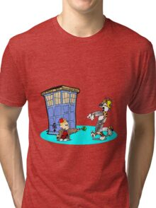 Calvin and Hobbes Doctor Who Tri-blend T-Shirt